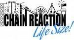 CHAIN REACTION LIVE SIZE LOGO male