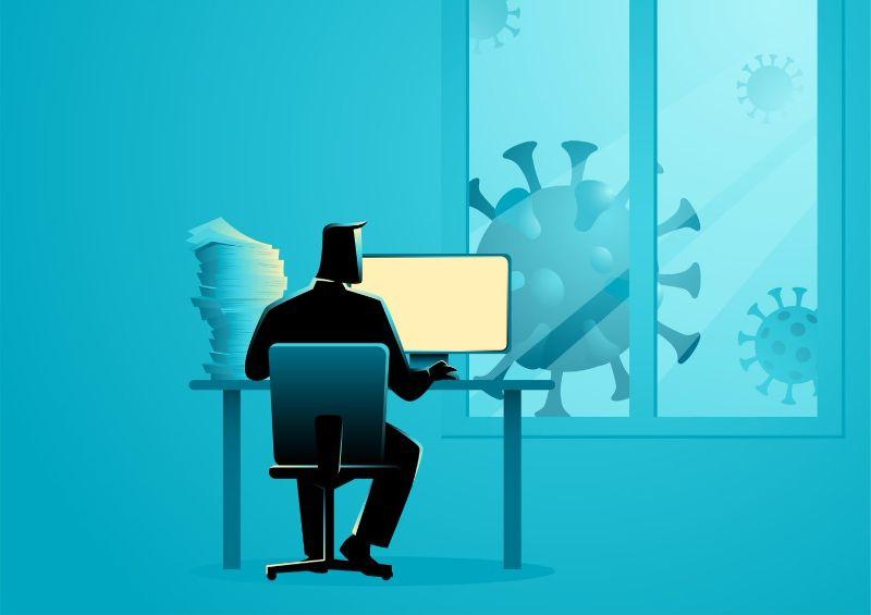 Man Building Team Online Graphic