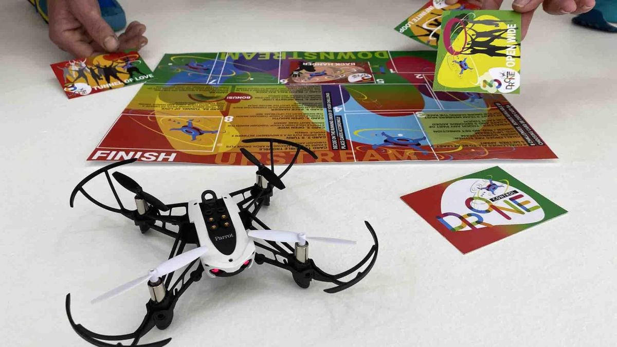Drone Control equipment including game cards for this Covid-Safe Game