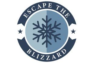 Escape the blizzard Online Teambuilding Logo
